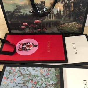 5 Gucci shopping bag, three limited edition ones